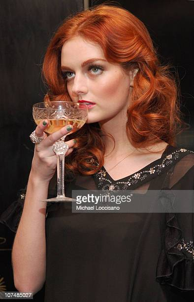Lydia Hearst wearing JovovichHawk Fall 2007 during Mercedes Benz Fashion Week Fall 2007 JovovichHawk Presentation and Cocktail Party at Gramercy Park...