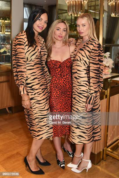 Lydia King Teale Talbot and Alexandra Spencer attend the launch of the Realisation concession at Selfridges on July 2 2018 in London England
