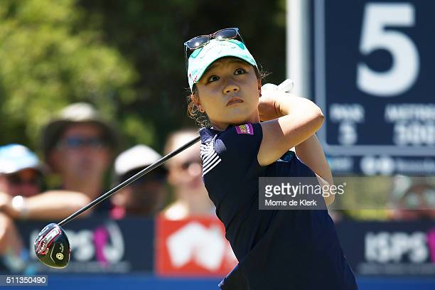 Lydia Ko of New Zealand competes during day three of the ISPS Handa Women's Australian Open at The Grange GC on February 20 2016 in Adelaide Australia