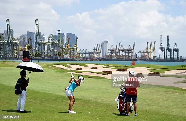 Lydia Ko of New Zealand during a practice round prior to the HSBC Women's Champions at the Sentosa Golf Club on March 1 2016 in Singapore Singapore