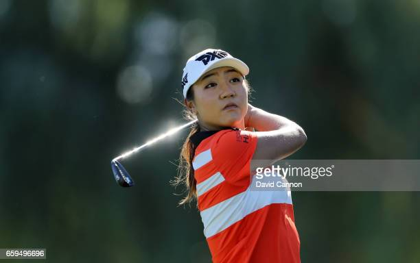 Lydia Ko of New Zealand during her practice round as a preview for the 2017 ANA Inspiration held on the Dinah Shore Tournament Course at the Mission...