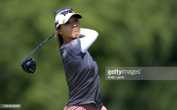 Lydia Ko of New Zealand hits a tee shot on the fifth hole during the second round of the Marathon LPGA Classic at Highland Meadows Golf Club on...