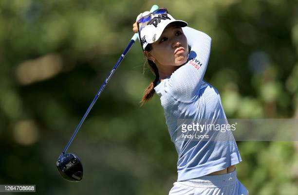 Lydia Ko of New Zealand hits a tee shot on the third hole during the third round of the Marathon LPGA Classic at Highland Meadows Golf Club on August...