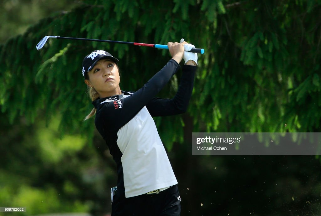 Lydia Ko of New Zealand hits her tee shot on the 17th hole during the first round of the ShopRite LPGA Classic Presented by Acer on the Bay Course at Stockton Seaview Hotel and Golf Club on June 8, 2018 in Galloway, New Jersey.