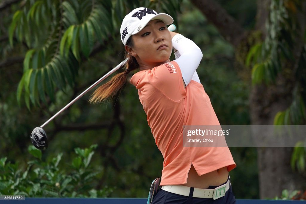 Lydia Ko of New Zealand in action during day one of the Sime Darby LPGA Malaysia at TPC Kuala Lumpur East Course on October 26, 2017 in Kuala Lumpur, Malaysia.