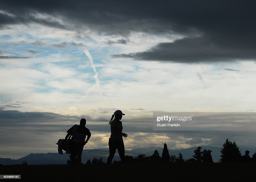 Lydia Ko of New Zealand looks on during the first round of The Evian Championship on September 15, 2016 in Evian-les-Bains, France.
