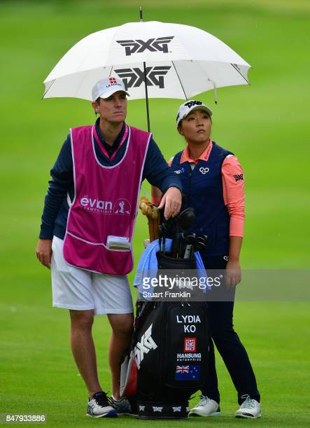 Lydia Ko of New Zealand looks on during the second round of The Evian Championship 2017 at Evian Resort Golf Club on September 16 2017 in...