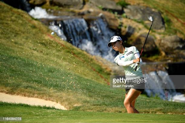 Lydia Ko of New Zealand on the fifth during day 1 of the Evian Championship at Evian Resort Golf Club on July 25, 2019 in Evian-les-Bains, France.