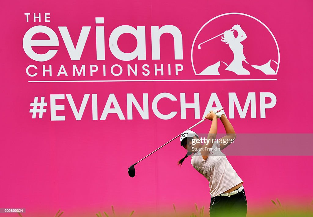 Lydia Ko of New Zealand plays a shot during the first round of The Evian Championship on September 15, 2016 in Evian-les-Bains, France.