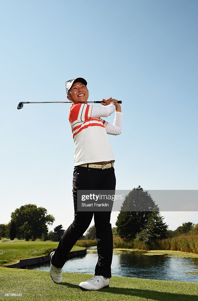 Lydia Ko of New Zealand poses for a picture prior to the start of the Evian Championship Golf on September 9, 2015 in Evian-les-Bains, France.