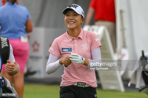Lydia Ko of New Zealand smiles as she walks down the fairway during the First Round of the Volunteers of America Texas Classic on May 4 2018 at the...
