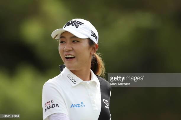 Lydia Ko of New Zealand smiles during day three of the ISPS Handa Australian Women's Open at Kooyonga Golf Club on February 17 2018 in Adelaide...