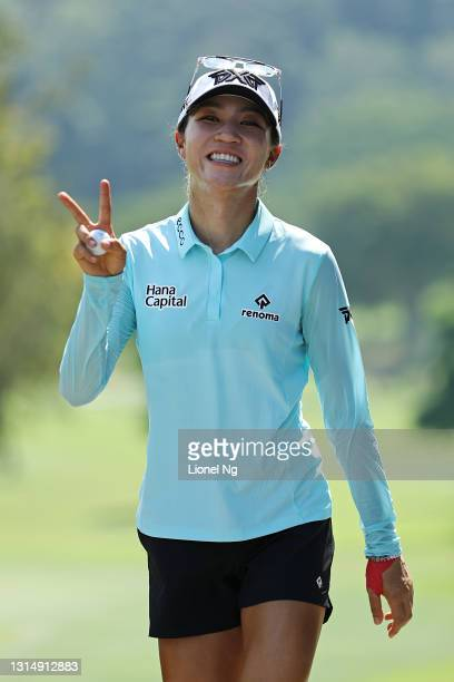 Lydia Ko of New Zealand walks to the 12th tee during a pro-am tournament prior to the HSBC Women's World Championship at Sentosa Golf Club on April...