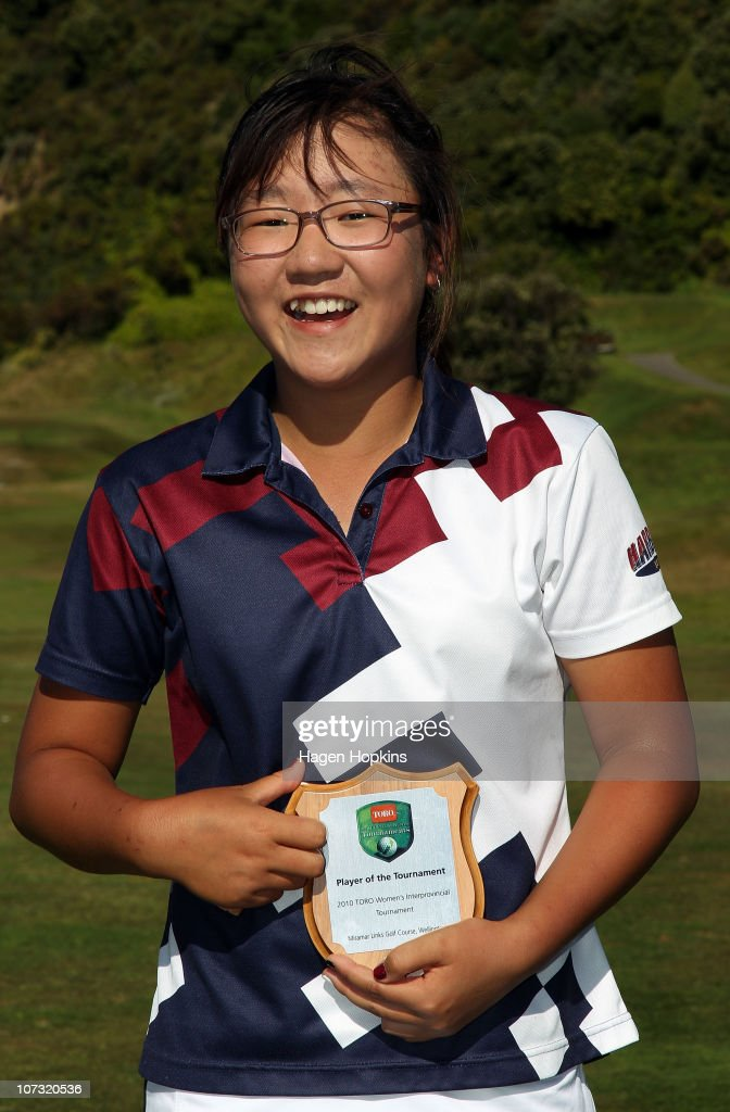 Lydia Ko of North Harbour poses with the Player of the Tournament award during the final day of the Women's Interprovincial Golf Championship at Miramar Golf Course on December 4, 2010 in Wellington, New Zealand.