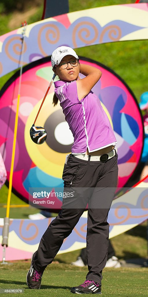 Lydia Ko of South Korea, plays a tee shot, during the last day of the Swinging Skirts 2013 World Ladies Masters, at Miramar Golf & Country Club on December 8, 2013 in Taipei, Taiwan.