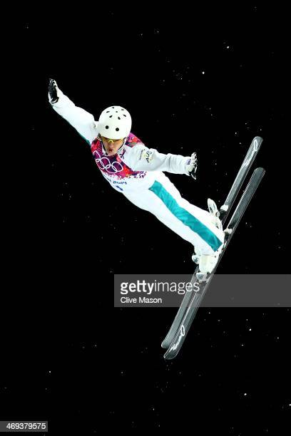 Lydia Lassila of Australia competes in the Freestyle Skiing Ladies' Aerials Finals on day seven of the Sochi 2014 Winter Olympics at Rosa Khutor...