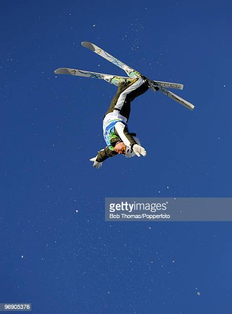 Lydia Lassila of Australia competes in the freestyle skiing ladies' aerials qualification on day 9 of the Vancouver 2010 Winter Olympics at Cypress...