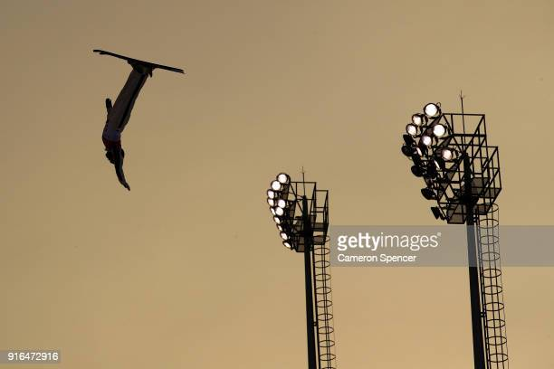 Lydia Lassila of Australia performs an aerial during Freestyle Skiing Ladies' Aerials training on day one of the PyeongChang 2018 Winter Olympic...