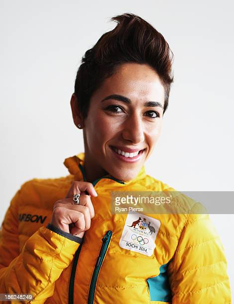 Lydia Lassila of Australia poses during the Australian Winter Olympics Games press conference at Museum of Contemporary Art on October 30 2013 in...