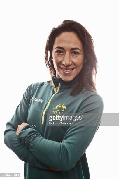 Lydia Lassila poses during a 2018 Australian Winter Olympic Team portrait session at The Icehouse on April 27 2017 in Melbourne Australia