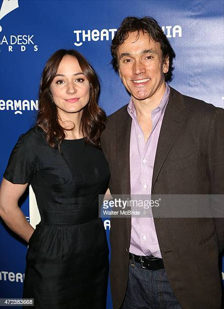 Lydia Leonard and Ben Miles attend the 2015 Drama Desk Awards Nominee Reception at New World Stages on May 6, 2015 in New York City.