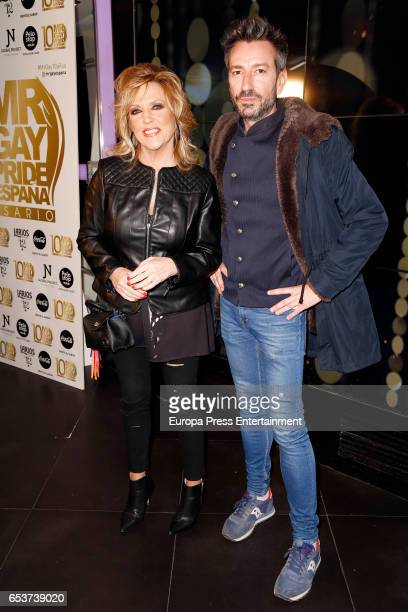 Lydia Lozano and David Valdeperas attend the presentation of the 10th Mr Gay Pride at Barcelo theatre on March 15 2017 in Madrid Spain