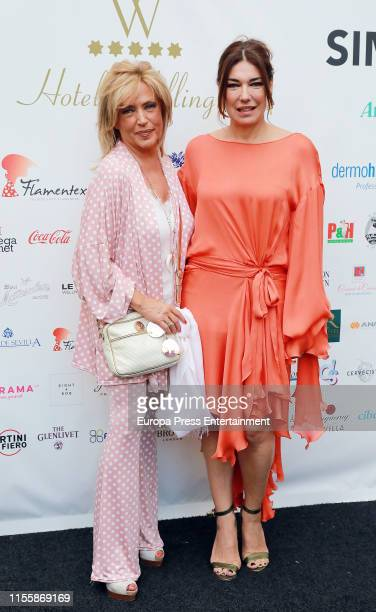 Lydia Lozano and Raquel Revuelta attends Hotel Wellington Summer Party on June 13, 2019 in Madrid, Spain.