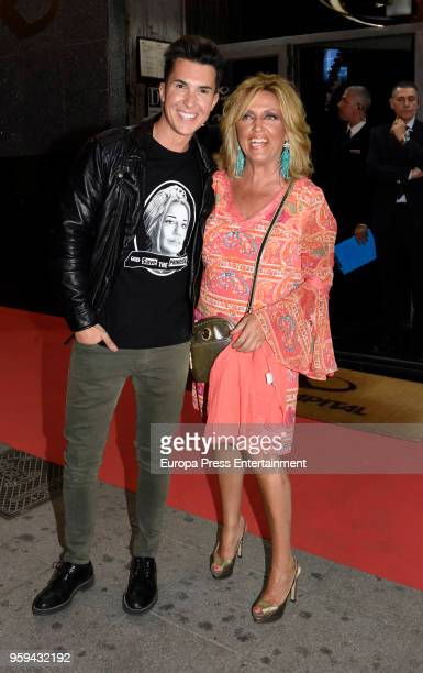 Lydia Lozano attends Belen Esteban's party at Kapital theatre on May 16 2018 in Madrid Spain
