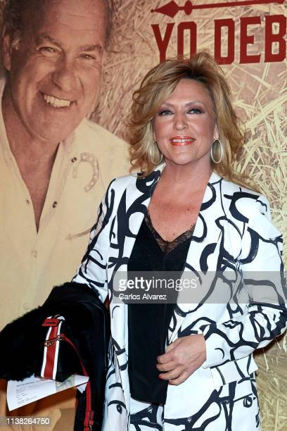 Lydia Lozano attends Bertin Osborne's concert at the Teatro Calderon on March 25, 2019 in Madrid, Spain.