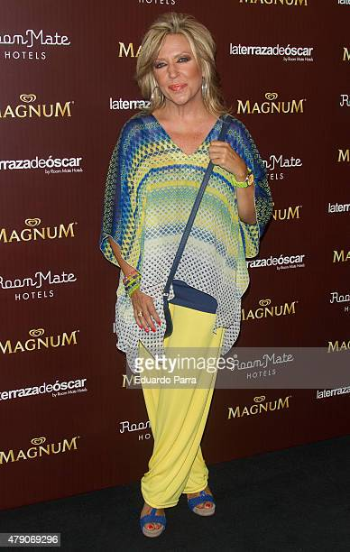 Lydia Lozano attends dipping party by Magnum photocall at Oscar hotel on June 30 2015 in Madrid Spain