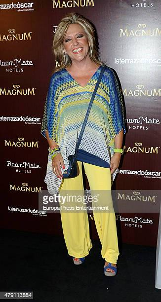 Lydia Lozano attends dipping party by Magnum photocall on June 30 2015 in Madrid Spain