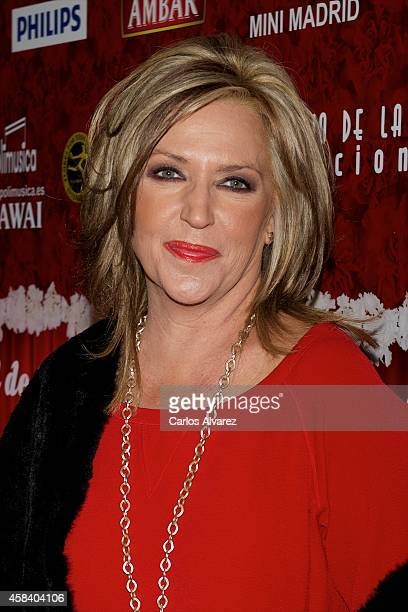 Lydia Lozano attends 'Miguel de Molina al Desnudo' premiere at the Santa Isabel Theater on November 4 2014 in Madrid Spain