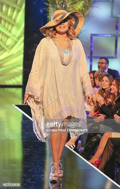 Lydia Lozano attends 'Salvame Fashion Week' on January 22 2015 in Madrid Spain
