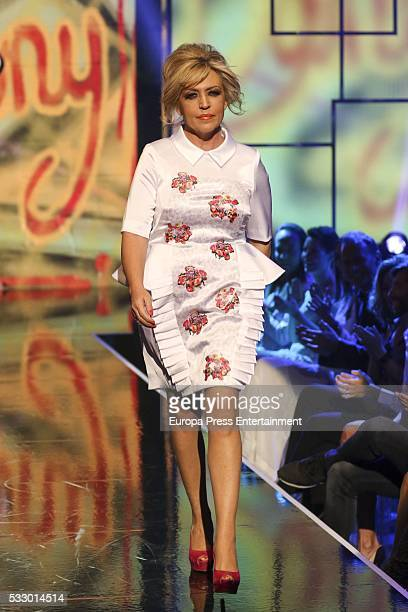 Lydia Lozano attends 'Salvame Fashion Week' on May 19 2016 in Madrid Spain