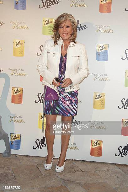 Lydia Lozano attends Sheba awards photocall at Fortuny Garden on May 23 2013 in Madrid Spain