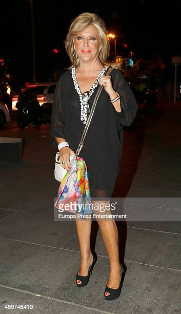 Lydia Lozano attends Terelu's 50th birthday party on September 23 2015 in Madrid Spain