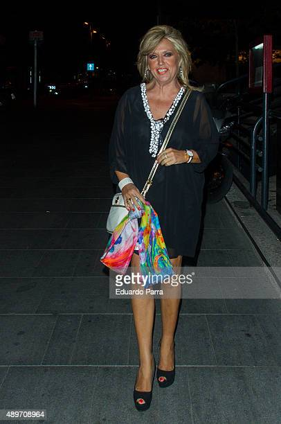 Lydia Lozano attends Terelu's birthday party at Le Boutique on September 23 2015 in Madrid Spain