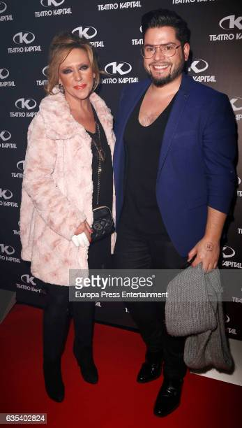 Lydia Lozano attends the 10th anniversary of 'Fabrica De La Tele' at Kapital club on February 14 2017 in Madrid Spain