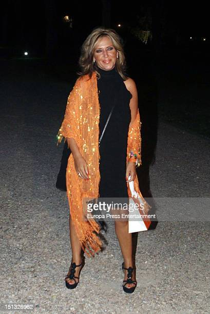 Lydia Lozano attends the 47th birthday party of Terelu Campos at Casa Monico Restaurant on September 5, 2012 in Madrid, Spain.