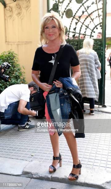 Lydia Lozano attends the Camilo Sesto Chapel at Spanish Copyright Association on September 09, 2019 in Madrid, Spain.