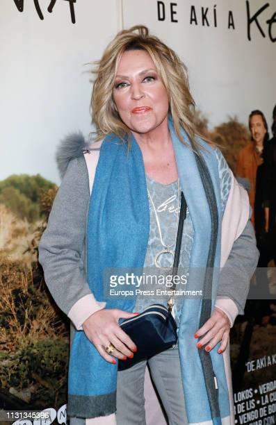 Lydia Lozano attends the Ketama's Concert at 'Palacio de la Prensa' on February 21 2019 in Madrid Spain