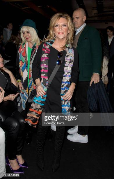 Lydia Lozano is seen at the Malne show during MercedesBenz Fashion Week Madrid Autumn/ Winter 201819 at Ifema on January 26 2018 in Madrid Spain