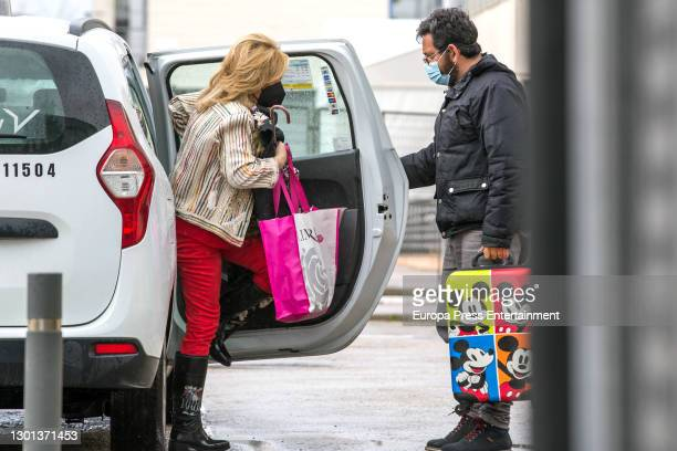 Lydia Lozano is seen on February 09, 2021 in Madrid, Spain.