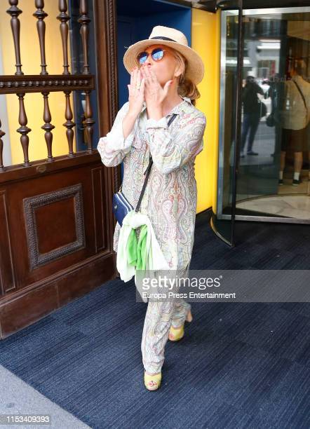 Lydia Lozano is seen on June 02, 2019 in Madrid, Spain.