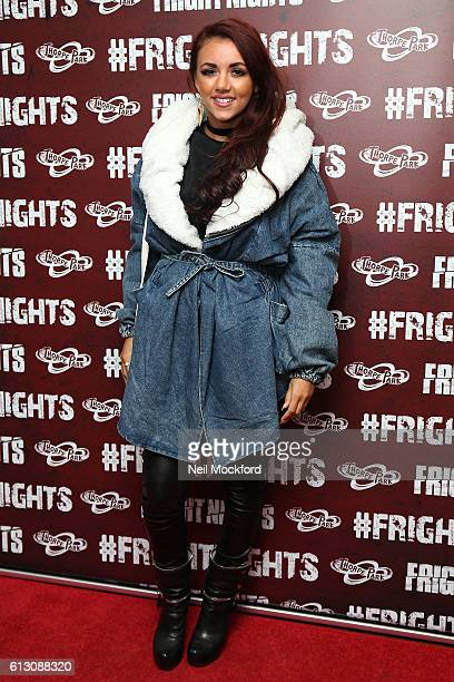 Lydia Lucy attends the launch of Thorpe Park's Fright Nights at Thorpe Park on October 6 2016 in Chertsey England