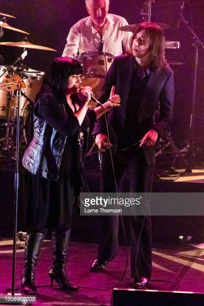 Lydia Lunch and Bobby Gillespie perform at The Royal Festival Hall on February 12, 2020 in London, England.