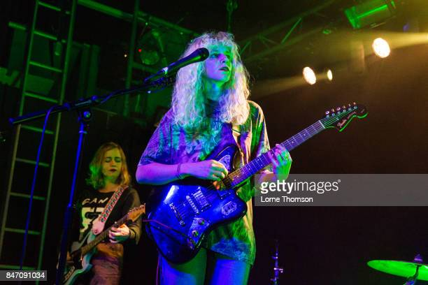 Lydia Lund and Julia Shapiro of Chastity Belt perform at The Garage on September 14 2017 in London England