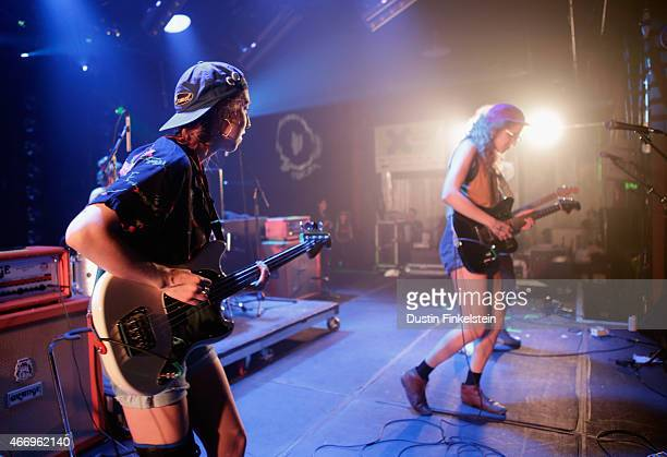 Lydia Lund and Julia Shapiro of Chastity Belt perform onstage at the Hype/Gorilla vs Bear showcase during the 2015 SXSW Music Film Interactive...
