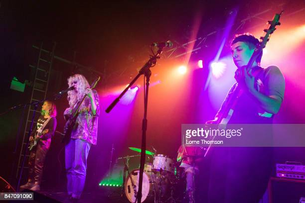 Lydia Lund Julia Shapiro Gretchen Grimm and Annie Truscott of Chastity Belt perform at The Garage on September 14 2017 in London England