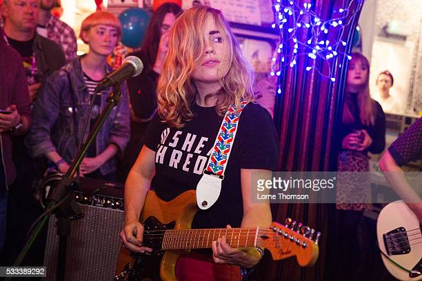 Lydia Lund of Chastity Belt performs at The Hope And Ruin as part of The Alternative Escape on May 21 2016 in Brighton England